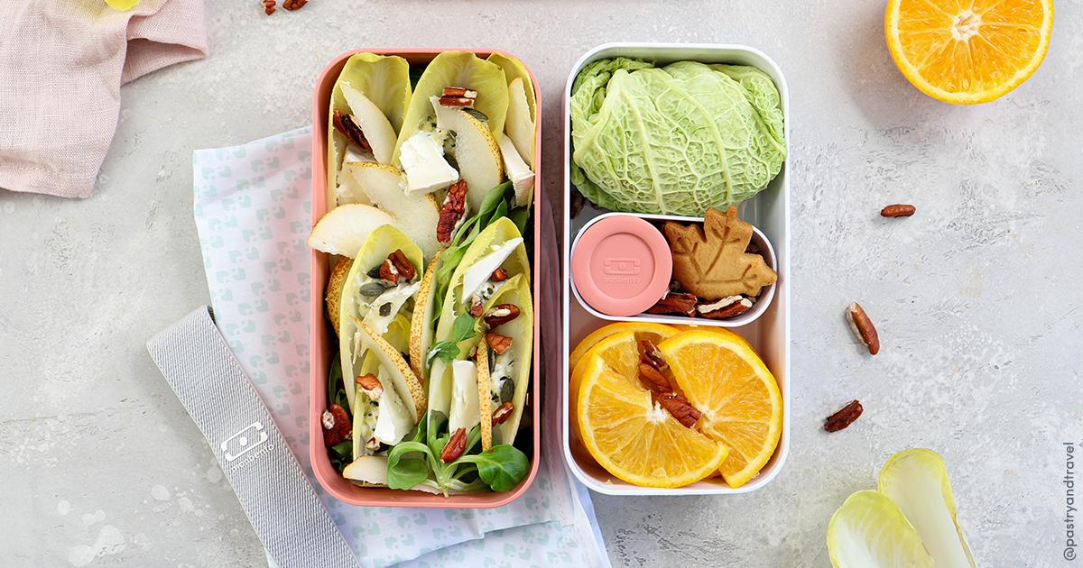Salade d'endives et son chou farci