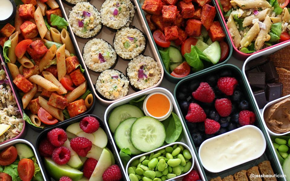 Batch cooking: Une semaine de préparation de repas végétaliens par Jess Beautician