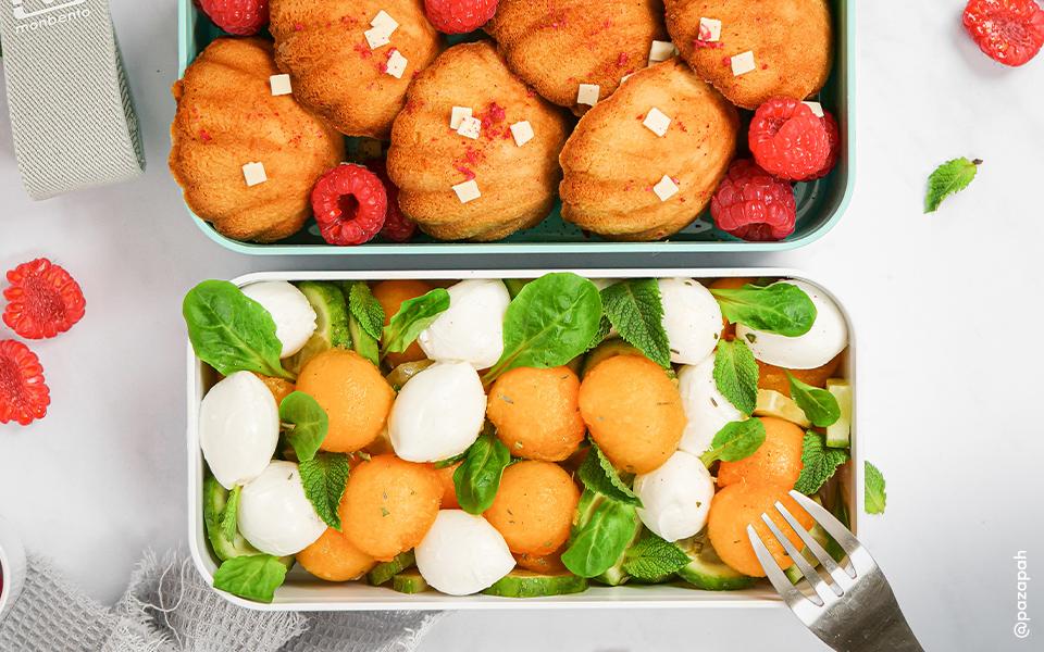 Salade fraîcheur et financiers vanille