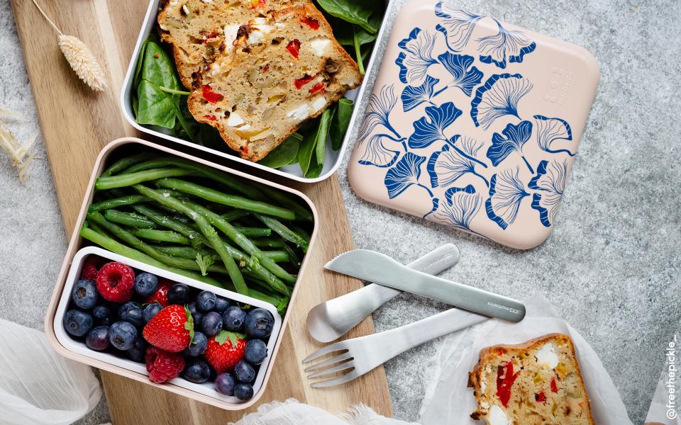 Cake Poivrons, Olives et Feta