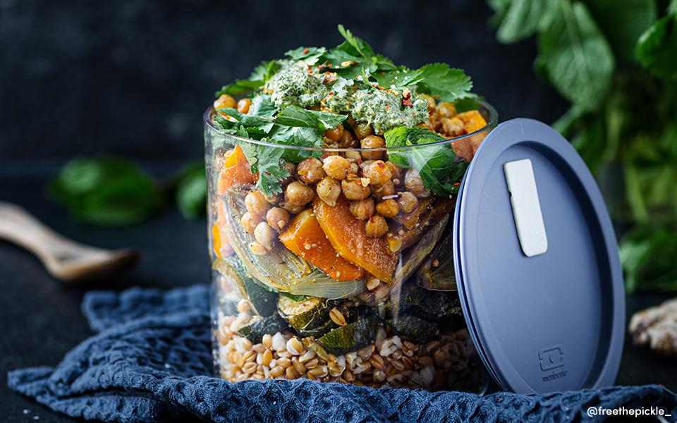 Salade de légumes Rôtis aux épices Indiennes