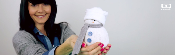 DIY pour les enfants : un bonhomme de neige sans neige !