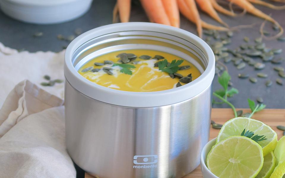 Soupe de butternut au lait de coco
