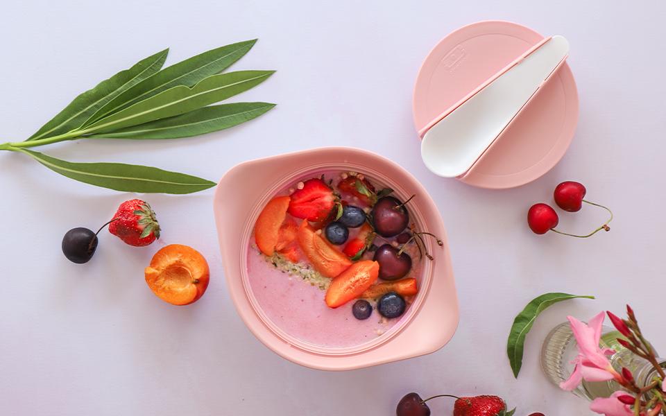 Smoothie bowl abricot-framboise
